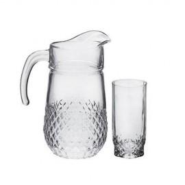 Jogo de jarra com 6 copos Pasabahce