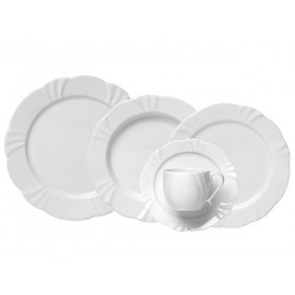 Aparelho de Jantar 20 Peças Porcelana Soleil White - Oxford
