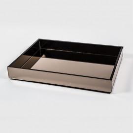 Bandeja espelhada retangular bronze 60x40
