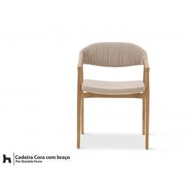 Cadeira Cora - detalhe tecido enrolado