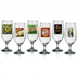 Jogo 6 taças para cerveja rótulos