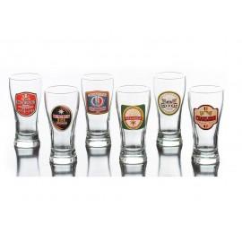 Jogo 6 tulipas para cerveja rótulos