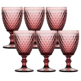 Conjunto 6 Taças para Agua Bico de Abacaxi Uva Vidro