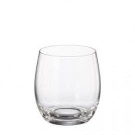 Jogo 6 copos baixos/wisk cristal Bohemia