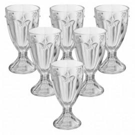 Conjunto 6 Taças Libelula Transparente
