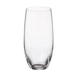 Jogo 6 copos alto cristal Bohemia